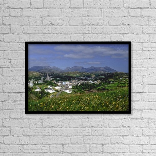 "Printscapes Wall Art: 18"" x 12"" Canvas Print With Black Frame - Connemara, Co Galway, Ireland by The Irish Image Collection"