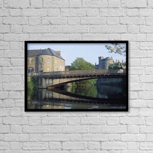 """Printscapes Wall Art: 18"""" x 12"""" Canvas Print With Black Frame - Historic & Vintage by The Irish Image Collection"""