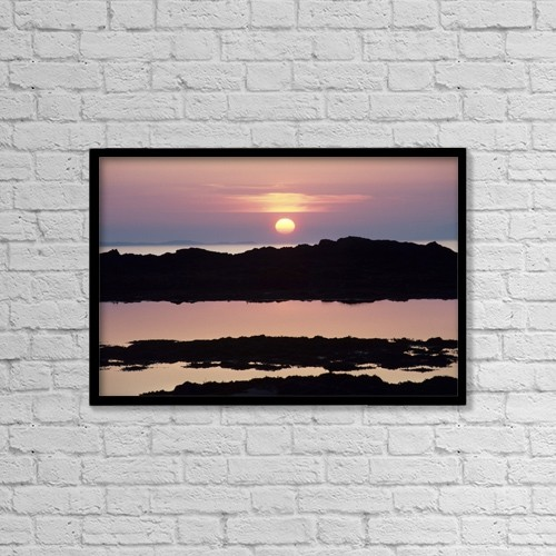 """Printscapes Wall Art: 18"""" x 12"""" Canvas Print With Black Frame - Scenic by Lizzie Shepherd"""