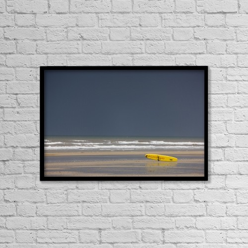 "Printscapes Wall Art: 18"" x 12"" Canvas Print With Black Frame - East Riding, Yorkshire, England by John Short"