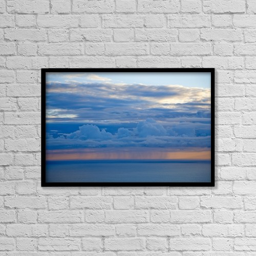 "Printscapes Wall Art: 18"" x 12"" Canvas Print With Black Frame - Atlantic Ocean, Co Clare, Ireland by Gareth McCormack"