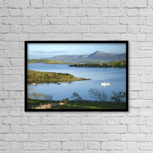 "Printscapes Wall Art: 18"" x 12"" Canvas Print With Black Frame - Co Mayo, Ireland by Gareth McCormack"