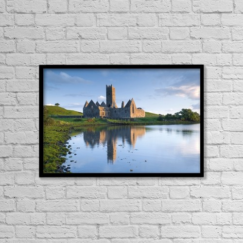 "Printscapes Wall Art: 18"" x 12"" Canvas Print With Black Frame - Rosserk Friary, Co Mayo, Ireland by Gareth McCormack"