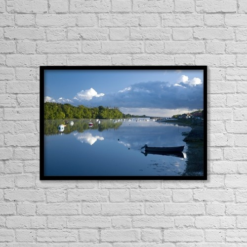 "Printscapes Wall Art: 18"" x 12"" Canvas Print With Black Frame - Ballina, Co Mayo, Ireland by Gareth McCormack"