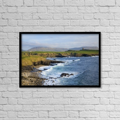"Printscapes Wall Art: 18"" x 12"" Canvas Print With Black Frame - Scenic by Gareth McCormack"