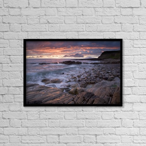 "Printscapes Wall Art: 18"" x 12"" Canvas Print With Black Frame - Mullaghmore Head, Co Sligo, Ireland by Gareth McCormack"