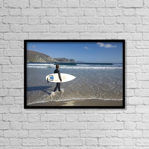 "Printscapes Wall Art: 18"" x 12"" Canvas Print With Black Frame - Achill Island, Co Mayo, Ireland by Gareth McCormack"