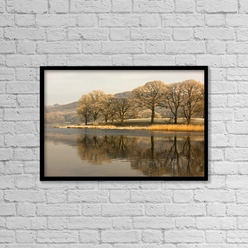 "Printscapes Wall Art: 18"" x 12"" Canvas Print With Black Frame - Cumbria, England by John Short"