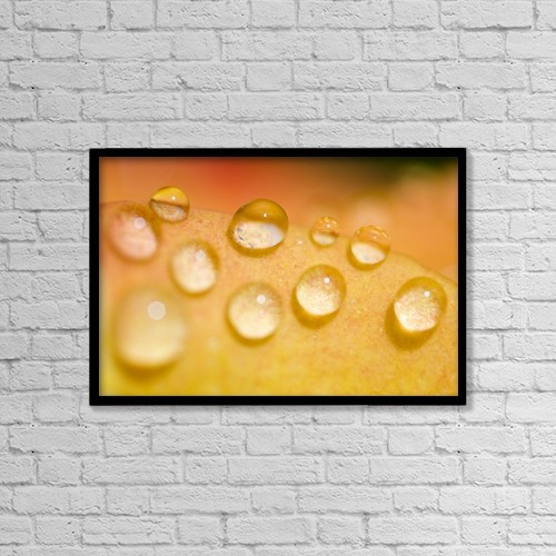 "Printscapes Wall Art: 18"" x 12"" Canvas Print With Black Frame - Water Droplets by Craig Tuttle"