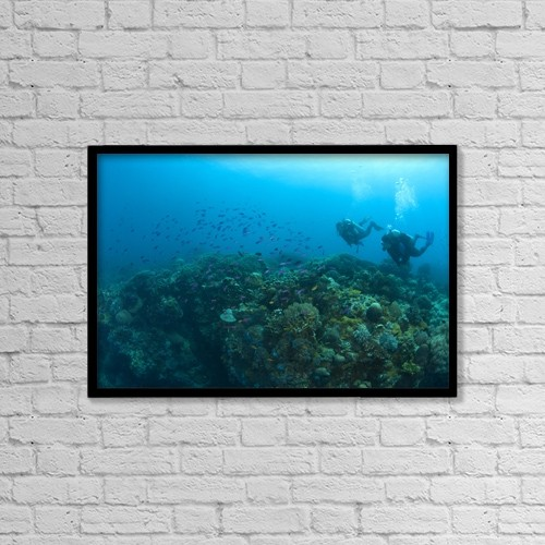 "Printscapes Wall Art: 18"" x 12"" Canvas Print With Black Frame - Sports and Recreation by Stuart Westmorland"