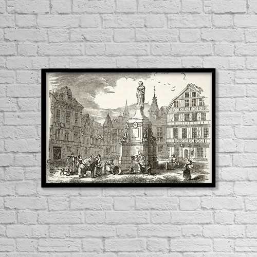 """Printscapes Wall Art: 18"""" x 12"""" Canvas Print With Black Frame - Shopping by Ken Welsh"""