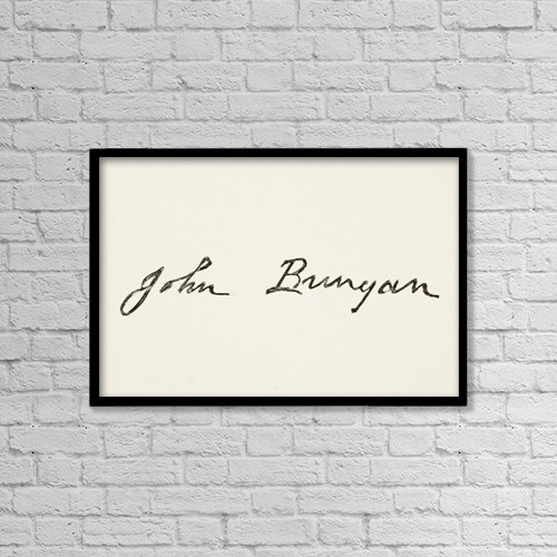 """Printscapes Wall Art: 18"""" x 12"""" Canvas Print With Black Frame - John Bunyan 1628 To 1688 by Ken Welsh"""
