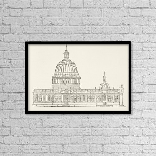 "Printscapes Wall Art: 18"" x 12"" Canvas Print With Black Frame - Signs by Ken Welsh"