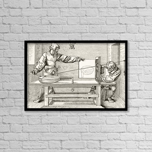 """Printscapes Wall Art: 18"""" x 12"""" Canvas Print With Black Frame - Signs by Ken Welsh"""