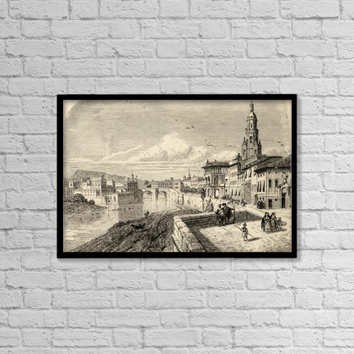 """Printscapes Wall Art: 18"""" x 12"""" Canvas Print With Black Frame - Murcia, Spain by Ken Welsh"""
