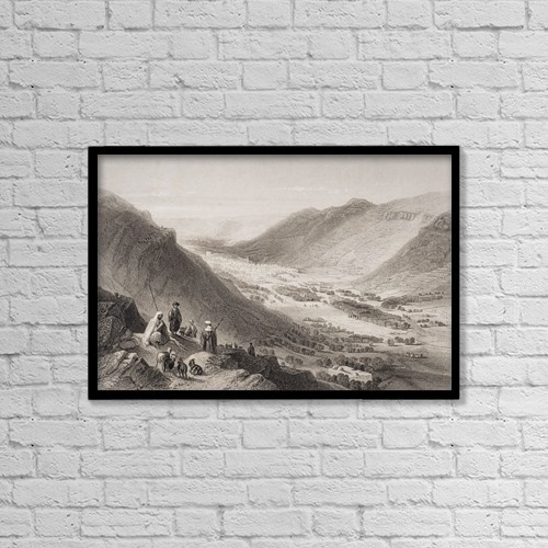 "Printscapes Wall Art: 18"" x 12"" Canvas Print With Black Frame - Scenic by Ken Welsh"