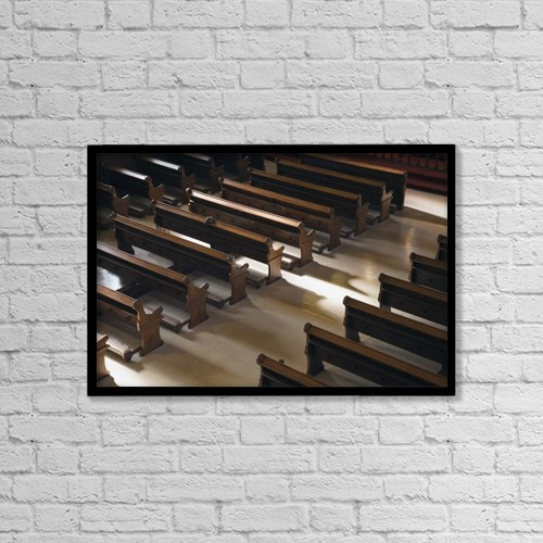 """Printscapes Wall Art: 18"""" x 12"""" Canvas Print With Black Frame - Christian Faith by Perry Mastrovito"""