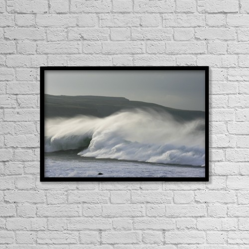 "Printscapes Wall Art: 18"" x 12"" Canvas Print With Black Frame - Doolin Harbour, County Clare, Ireland by Peter Zoeller"