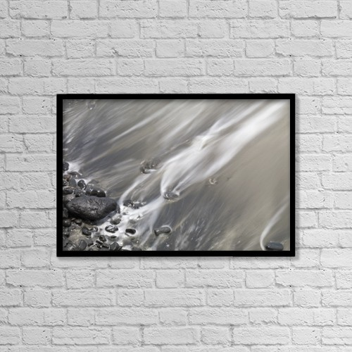 """Printscapes Wall Art: 18"""" x 12"""" Canvas Print With Black Frame - Shoreline by Keith Levit"""