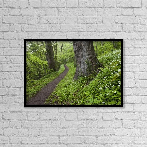 "Printscapes Wall Art: 18"" x 12"" Canvas Print With Black Frame - Scenic by Peter McCabe"