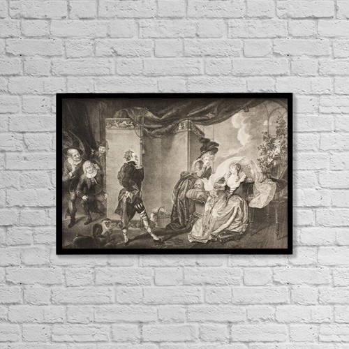 """Printscapes Wall Art: 18"""" x 12"""" Canvas Print With Black Frame - Twelfth Night, Or, What You Will by Ken Welsh"""