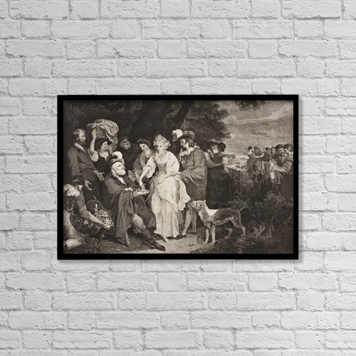 """Printscapes Wall Art: 18"""" x 12"""" Canvas Print With Black Frame - The Winter´S Tale. by Ken Welsh"""
