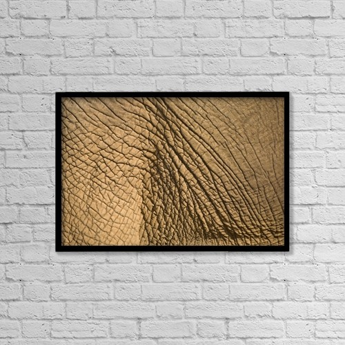 "Printscapes Wall Art: 18"" x 12"" Canvas Print With Black Frame - Elephant's Skin by Chris Upton"