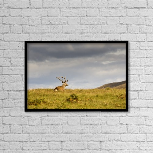 "Printscapes Wall Art: 18"" x 12"" Canvas Print With Black Frame - Island Of Islay, Scotland by John Short"