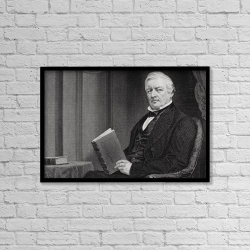 "Printscapes Wall Art: 18"" x 12"" Canvas Print With Black Frame - Millard Fillmore 1800 To 1874 by Ken Welsh"
