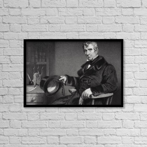 "Printscapes Wall Art: 18"" x 12"" Canvas Print With Black Frame - William Henry Harrison 1773 To 1841 by Ken Welsh"