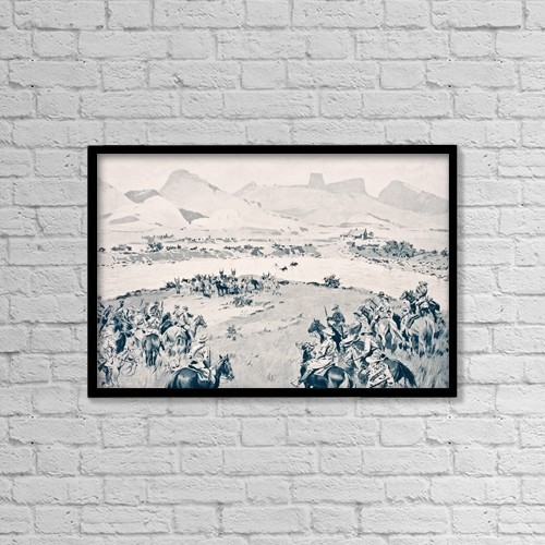 "Printscapes Wall Art: 18"" x 12"" Canvas Print With Black Frame - South Africa by Ken Welsh"
