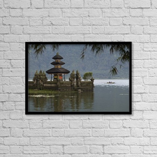 "Printscapes Wall Art: 18"" x 12"" Canvas Print With Black Frame - Bali, Indonesia by Keith Levit"