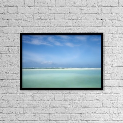 "Printscapes Wall Art: 18"" x 12"" Canvas Print With Black Frame - Indian Ocean, Zanzibar, Tanzania by Chris Upton"