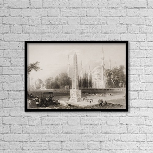 "Printscapes Wall Art: 18"" x 12"" Canvas Print With Black Frame - The Atmeidan Or Hippodrome, Constantinople by Ken Welsh"