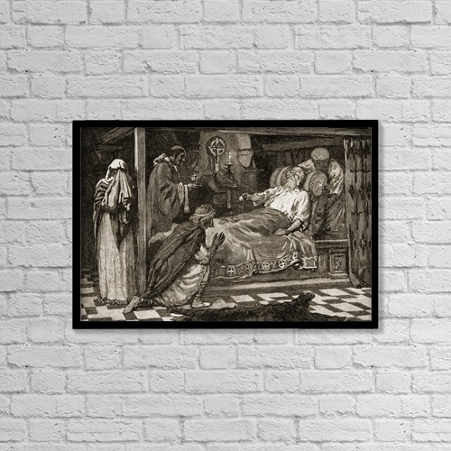 "Printscapes Wall Art: 18"" x 12"" Canvas Print With Black Frame - Edward Iii, The Confessor,1042-1066 Ad by Ken Welsh"