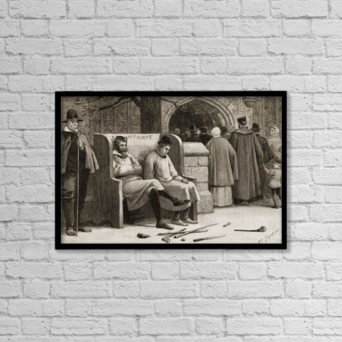 "Printscapes Wall Art: 18"" x 12"" Canvas Print With Black Frame - The Seat Of Repentance by Ken Welsh"