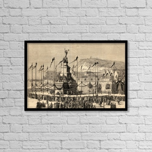 """Printscapes Wall Art: 18"""" x 12"""" Canvas Print With Black Frame - Barcelona, Spain by Ken Welsh"""