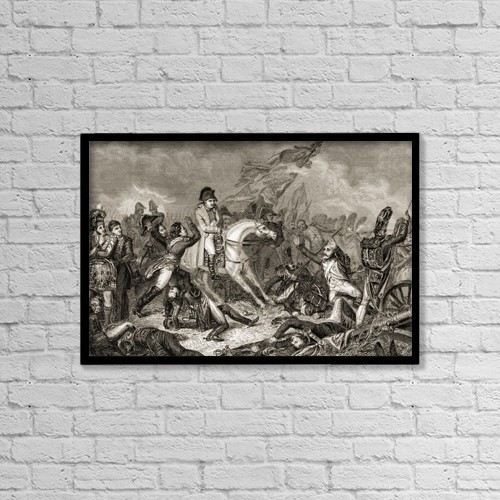 "Printscapes Wall Art: 18"" x 12"" Canvas Print With Black Frame - Napoleon Bonaparte, 1769-1821 by Ken Welsh"