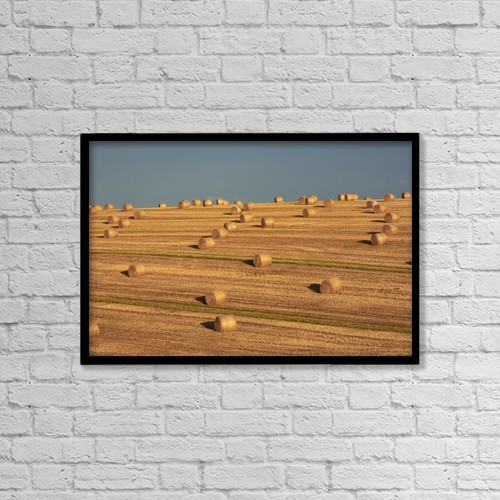 """Printscapes Wall Art: 18"""" x 12"""" Canvas Print With Black Frame - Agriculture by Peter Zoeller"""