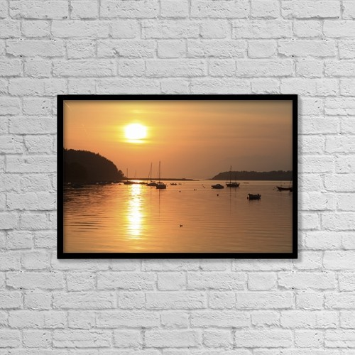 """Printscapes Wall Art: 18"""" x 12"""" Canvas Print With Black Frame - Bantry Bay, Bantry, Co Cork, Ireland by Peter Zoeller"""