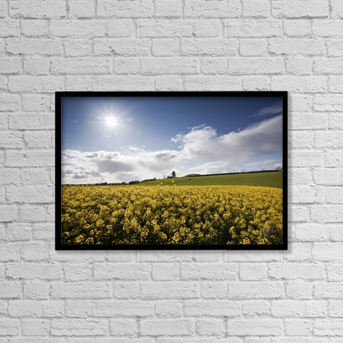 "Printscapes Wall Art: 18"" x 12"" Canvas Print With Black Frame - Agriculture by Peter McCabe"