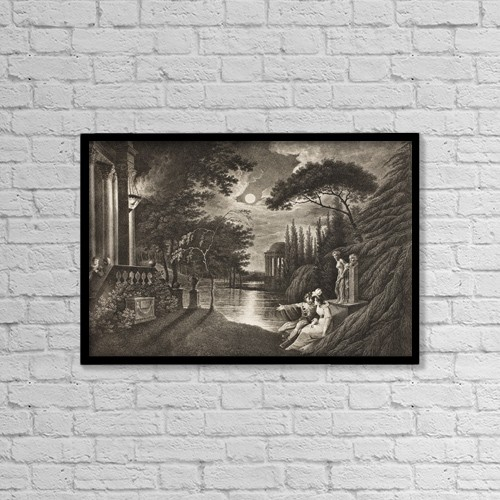 "Printscapes Wall Art: 18"" x 12"" Canvas Print With Black Frame - The Merchant Of Venice by Ken Welsh"