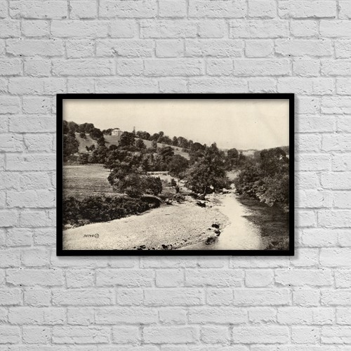 "Printscapes Wall Art: 18"" x 12"" Canvas Print With Black Frame - Avondale, County Wicklow, Ireland by Ken Welsh"