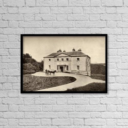 """Printscapes Wall Art: 18"""" x 12"""" Canvas Print With Black Frame - Avondale, County Wicklow, Ireland by Ken Welsh"""