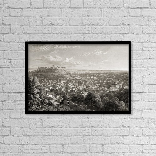"""Printscapes Wall Art: 18"""" x 12"""" Canvas Print With Black Frame - Scenic by Ken Welsh"""