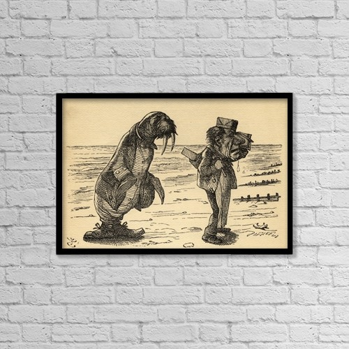 "Printscapes Wall Art: 18"" x 12"" Canvas Print With Black Frame - The Walrus And The Carpenter by Ken Welsh"