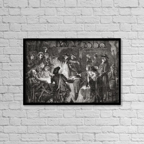 "Printscapes Wall Art: 18"" x 12"" Canvas Print With Black Frame - Arrest Of The Royal Family, 1792 Engraved By T by Ken Welsh"