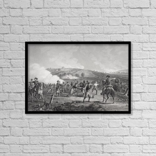 "Printscapes Wall Art: 18"" x 12"" Canvas Print With Black Frame - Battle Of Gettysburg Pennsylvania 1863 by Ken Welsh"