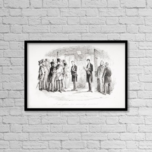 """Printscapes Wall Art: 18"""" x 12"""" Canvas Print With Black Frame - I Am Shown Two Interesting Penitents by Ken Welsh"""