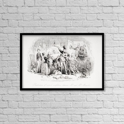 """Printscapes Wall Art: 18"""" x 12"""" Canvas Print With Black Frame - Restoration Of Mutual Confidence Between Mr by Ken Welsh"""